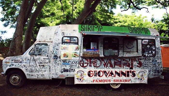 ジョバンニハレイワ店のトラック