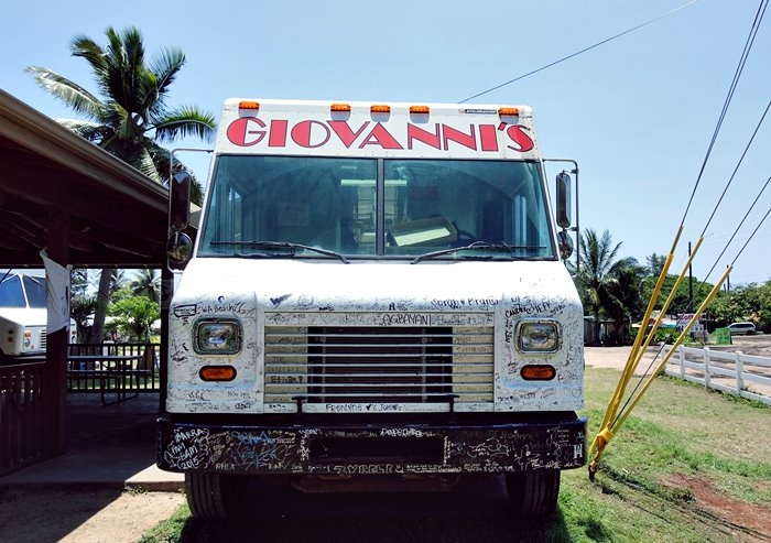 ジョバンニカフク店のトラック正面