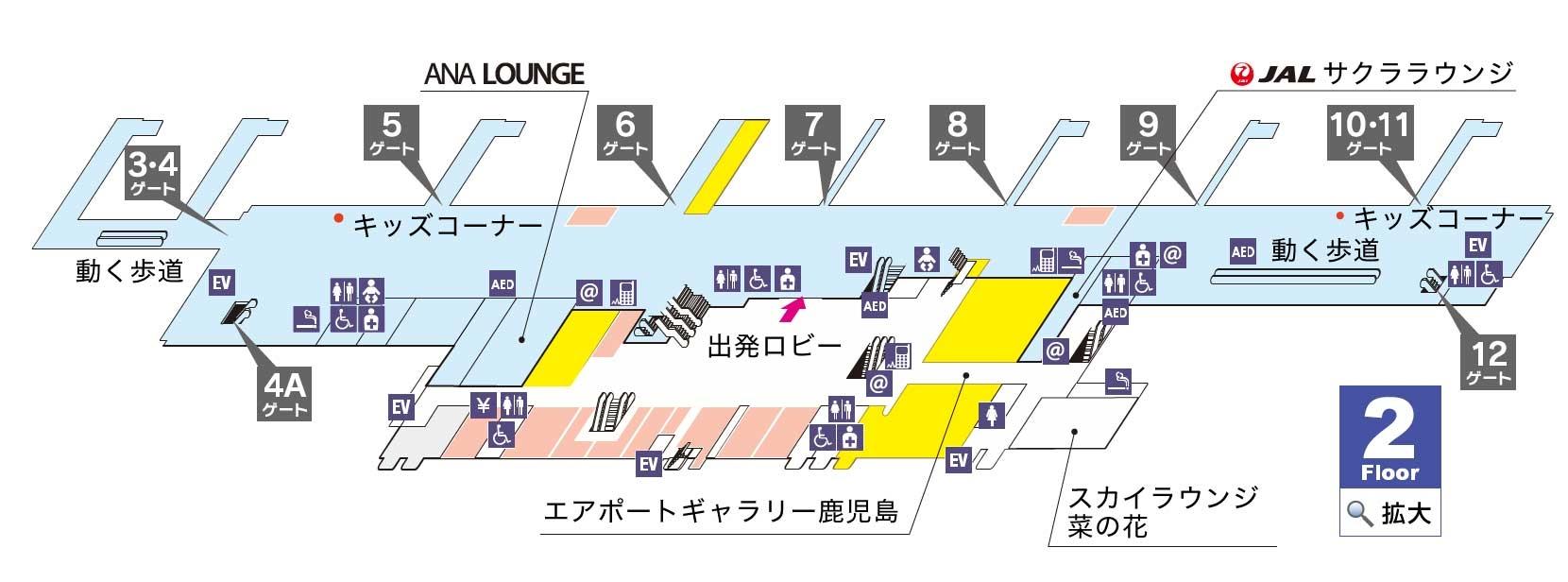 鹿児島空港MAP