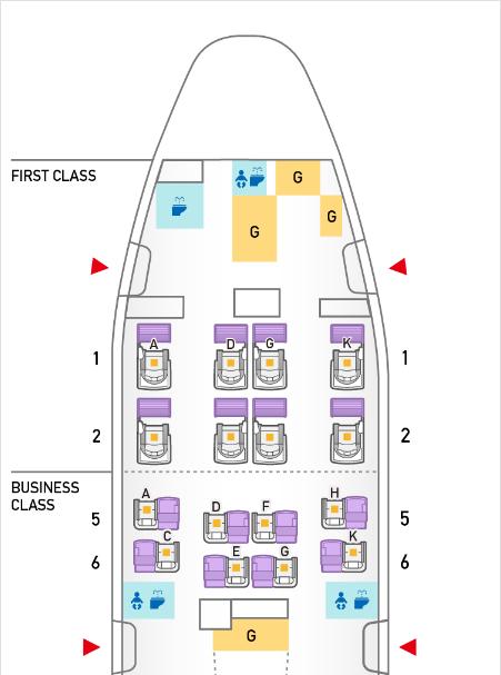 B777-300ERのシートマップ