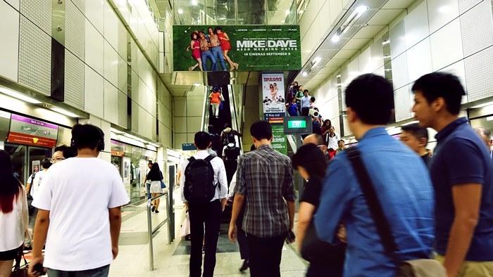 シンガポールMRT駅構内