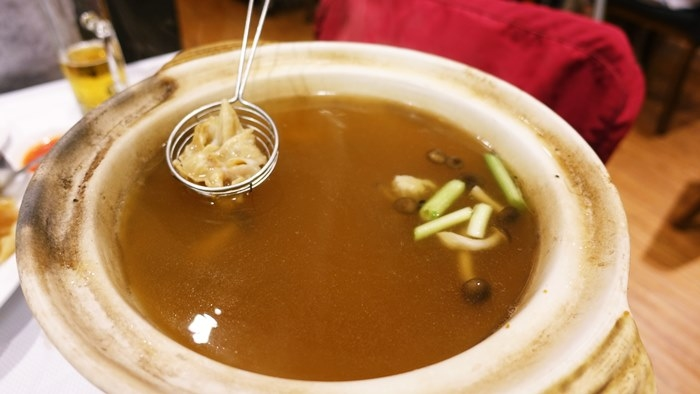 ミル貝しゃぶしゃぶスタイル用のスープ