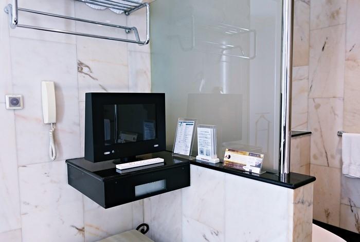 バスルームのテレビ