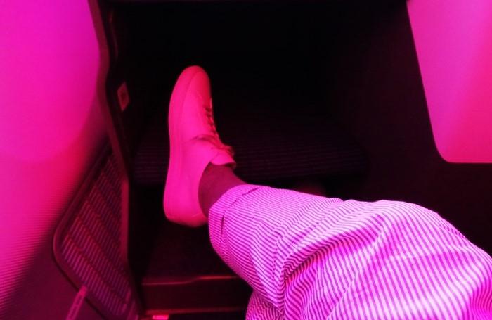 怪しい機内の座席