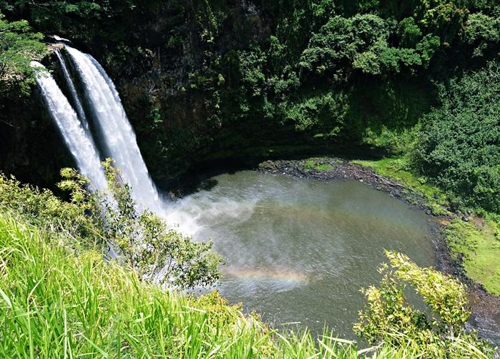 カウアイ島ワイルアの滝