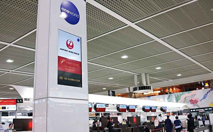 成田空港JALチェックインカウンター