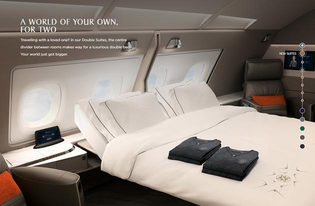 A380のダブルベッド