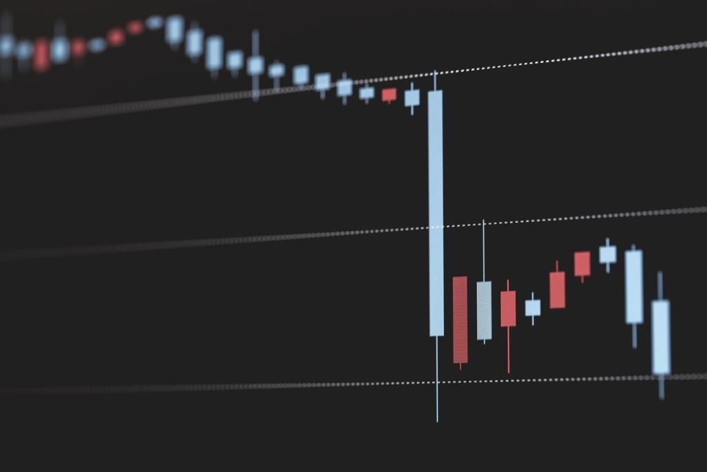 株価が下落するチャート