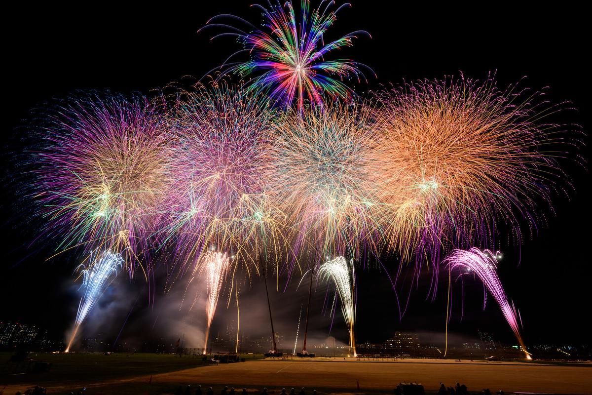 江戸川区花火大会のフィナーレ
