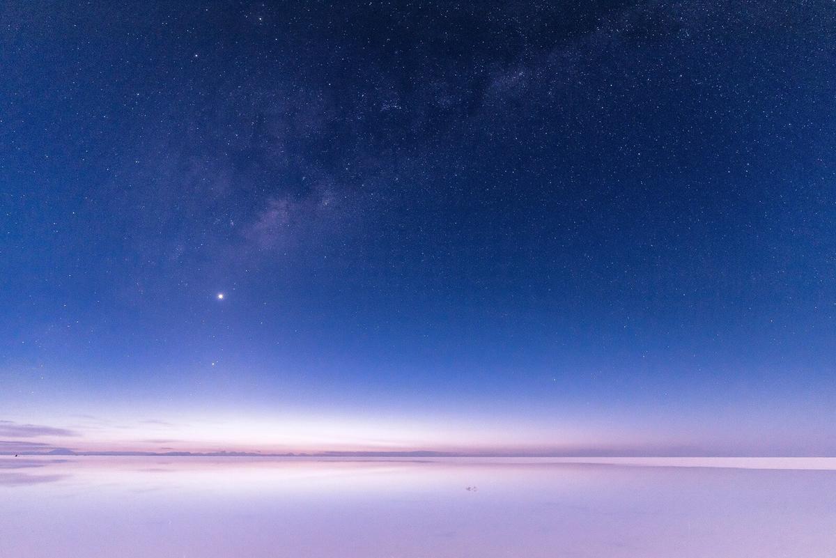 ウユニ湖の星空
