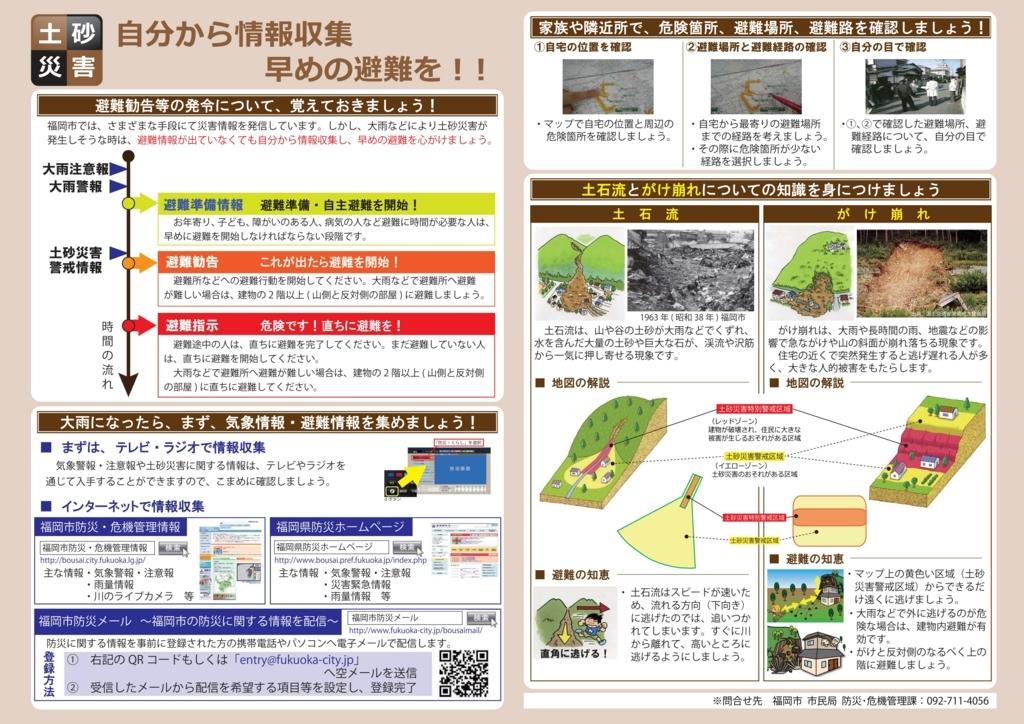 土砂災害警戒区域|土砂災害ハザードマップ|小堺建築研究所|福岡の設計事務所|