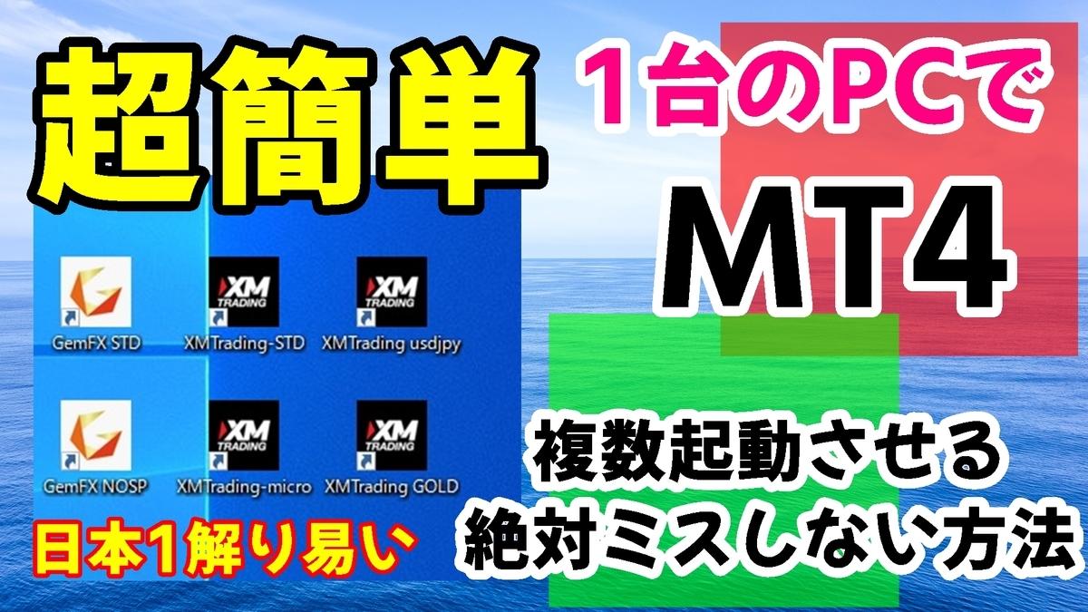 MT4を複数起動させる方法