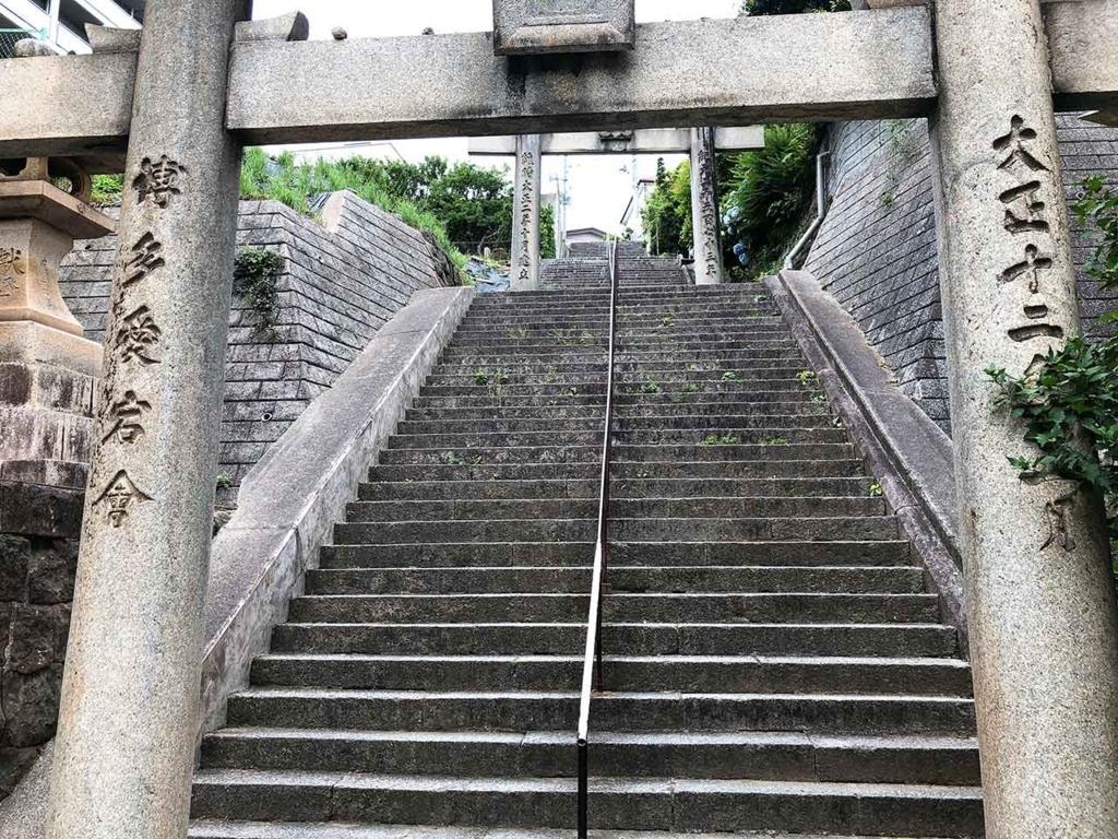愛宕神社の入口。結構な階段です。【適材適食】小園亜由美(管理栄養士・野菜ソムリエ上級プロ)
