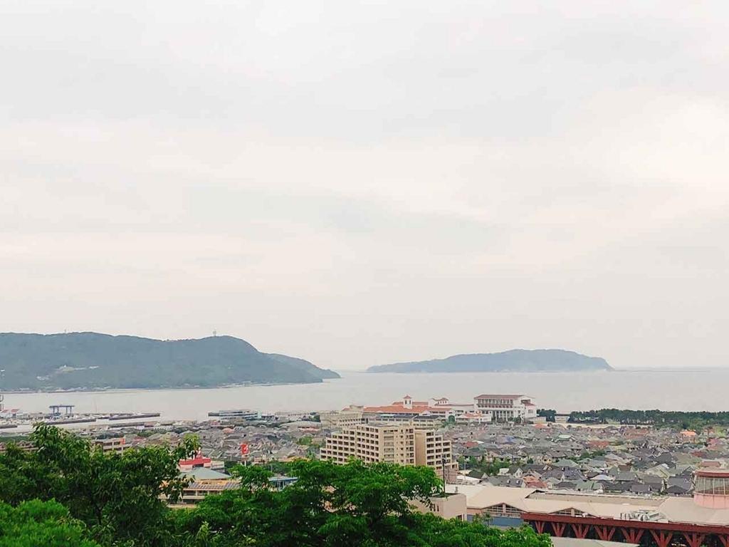 愛宕山からの眺め。能古渡船場が見えます。【適材適食】小園亜由美(管理栄養士・野菜ソムリエ上級プロ)
