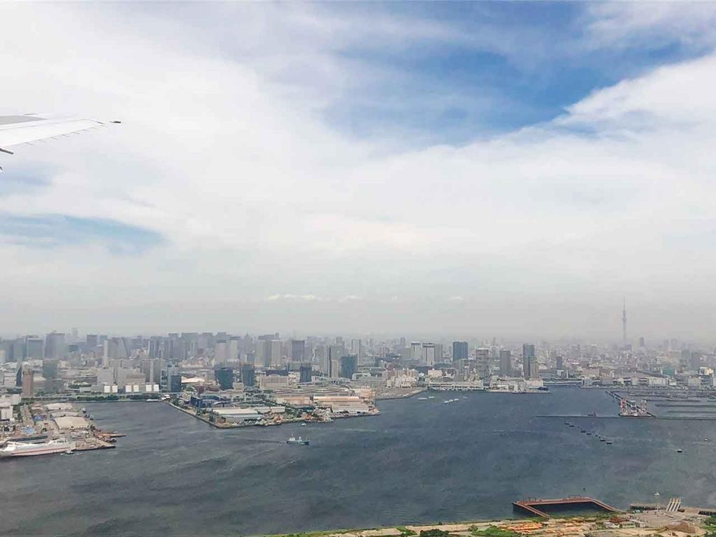 東京上空。東京スカイツリーが見えます。【適材適食】小園亜由美(管理栄養士・野菜ソムリエ上級プロ)