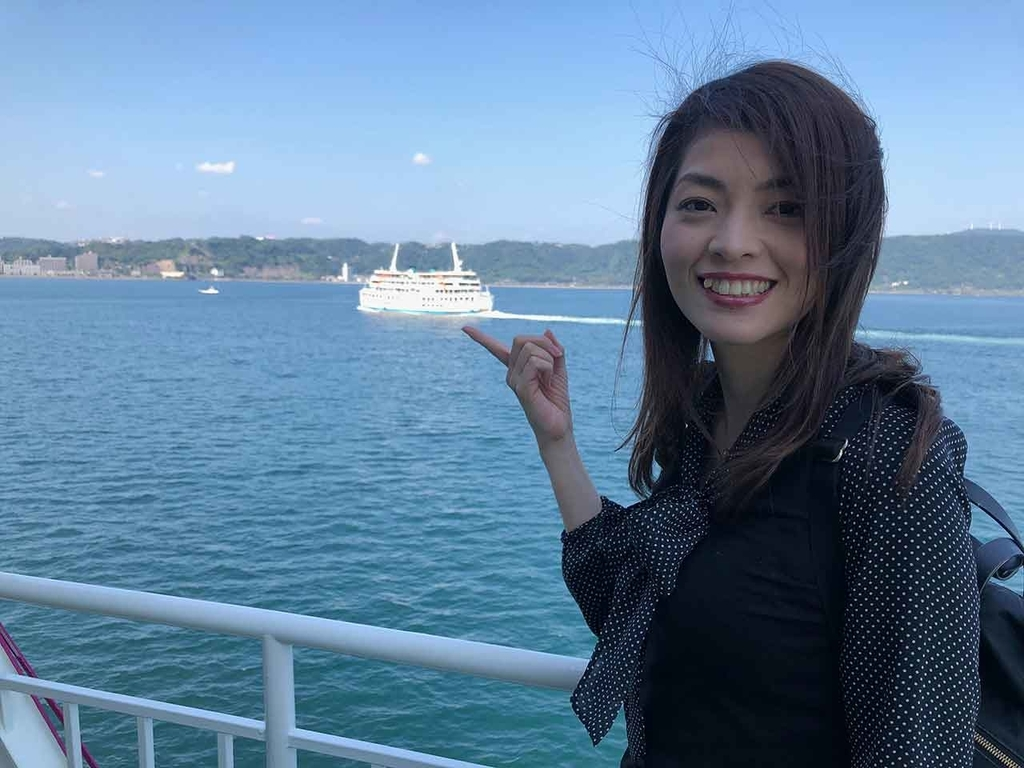桜島フェリーに乗船!【適材適食】小園亜由美(管理栄養士・野菜ソムリエ上級プロ)