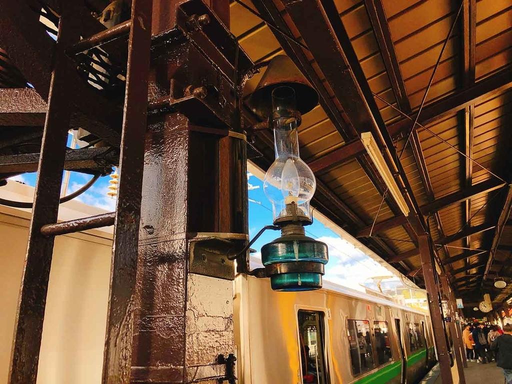 JR小樽駅のホーム。とてもノスタルジック。【適材適食】小園亜由美(管理栄養士・野菜ソムリエ上級プロ)