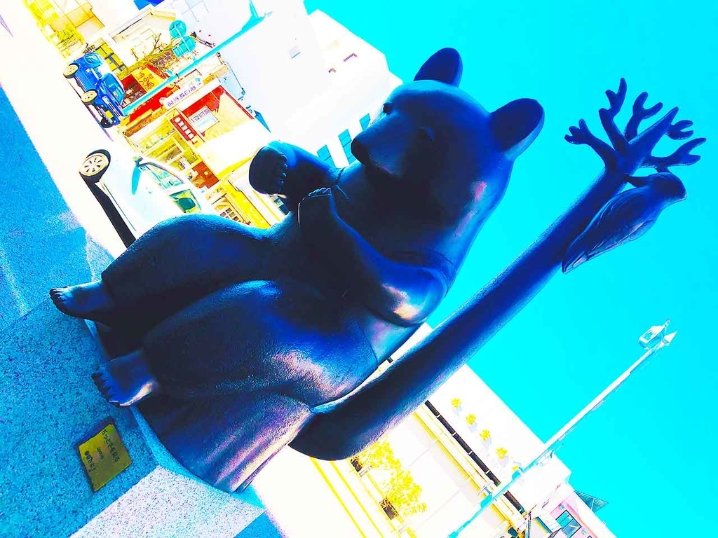 「ぢっと手を見る」の像@函館・五稜郭付近【適材適食】小園亜由美(管理栄養士・野菜ソムリエ上級プロ)