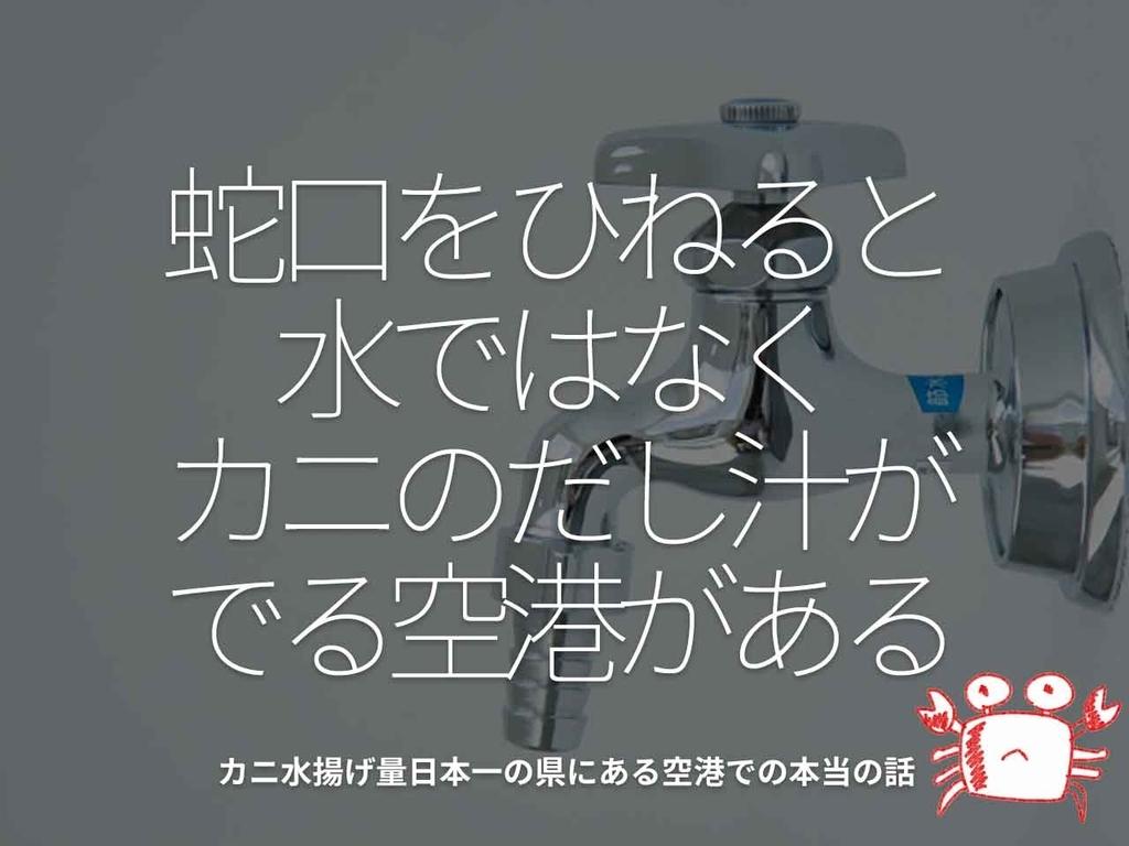 「蛇口をひねると水ではなく、カニのだし汁がでる空港がある」カニ水揚げ量日本一の県にある空港での本当の話【適材適食】小園亜由美(管理栄養士・野菜ソムリエ上級プロ)