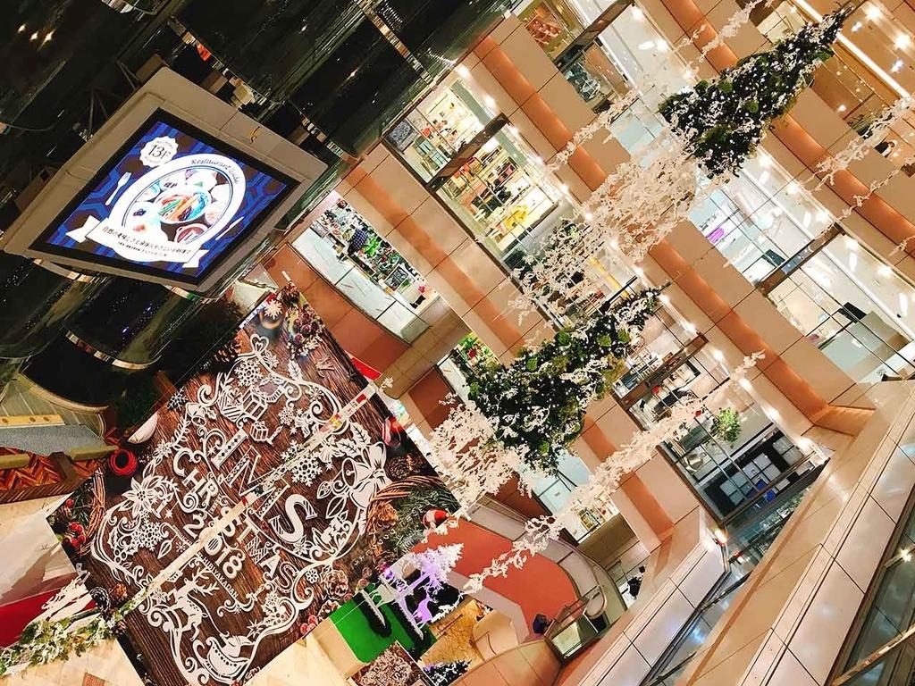 イムズ@「サンタが天神にやってきた」名付けて『クリスマスツリーハンター』2018年福岡・天神の『クリスマスツリー』を集めてみた【適材適食】小園亜由美(管理栄養士・野菜ソムリエ上級プロ)