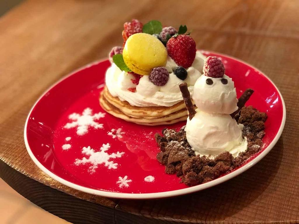 クリスマスパンケーキ@キャンベル・アーリー@くうてん@JR博多シティ【適材適食】小園亜由美(管理栄養士・野菜ソムリエ上級プロ)