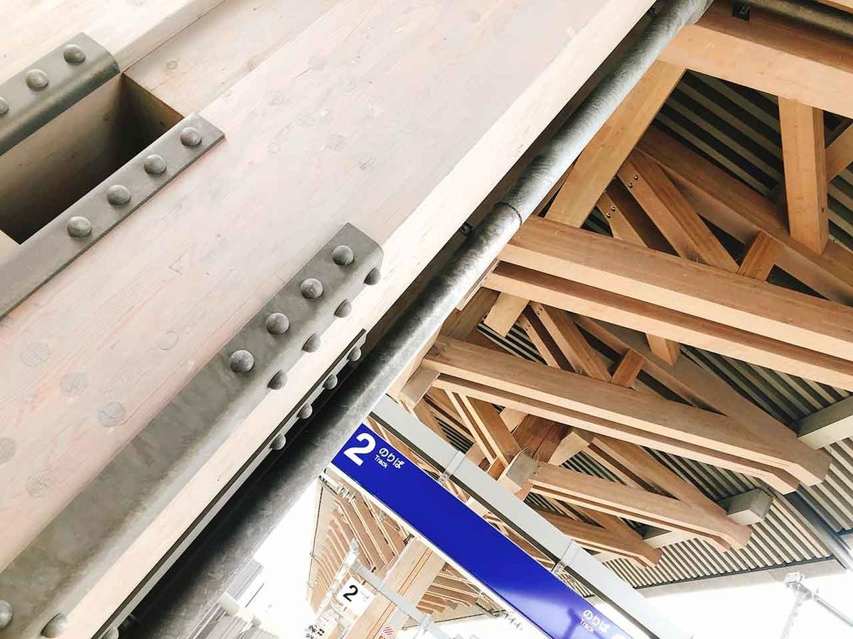 熊本駅の在来線ホームの柱や屋根はなんだか熊本城をイメージさせるデザインなのです@GW「平成駅から出発進行」平成の最後にJR九州豊肥本線熊本駅の隣「平成駅」に行ってみた★