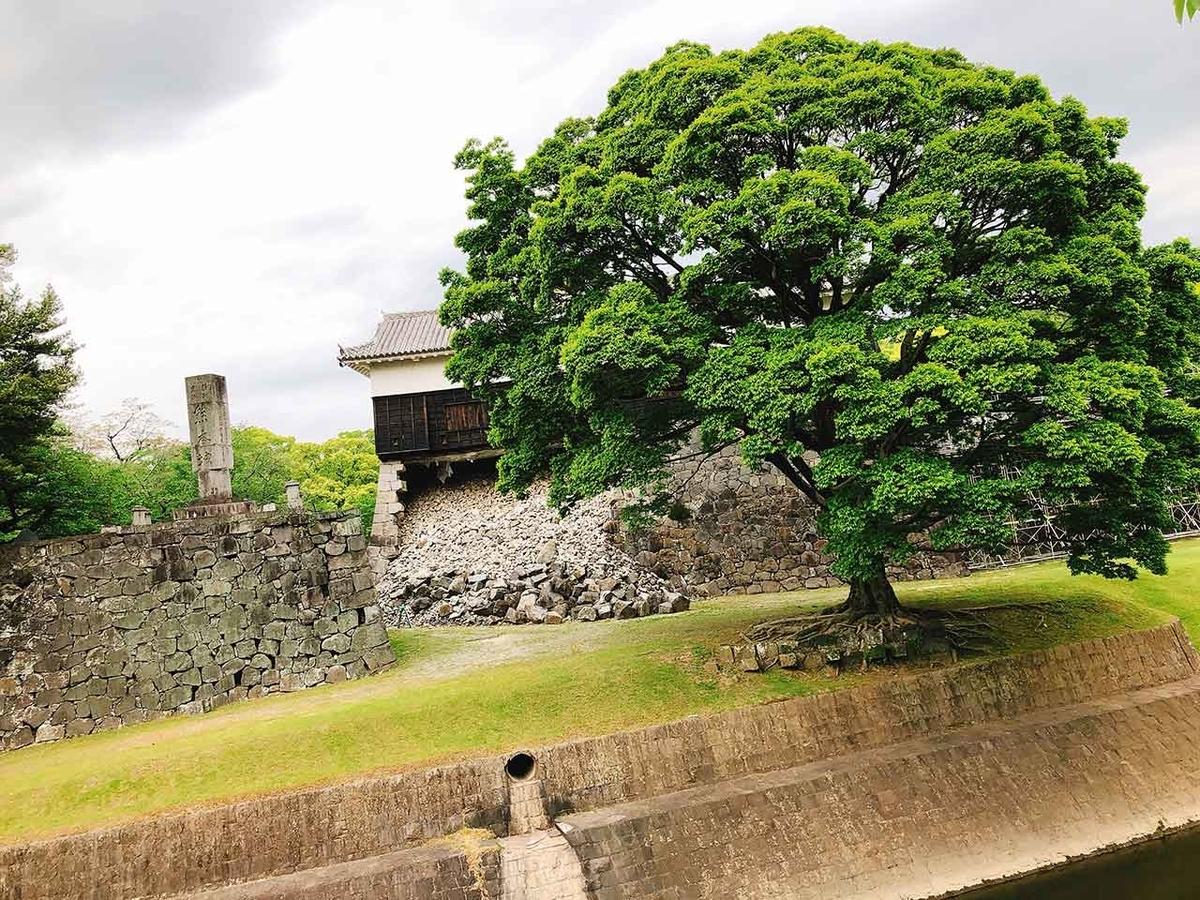 GW「熊本城に今も残る震度7の爪痕」2016年4月から3年後