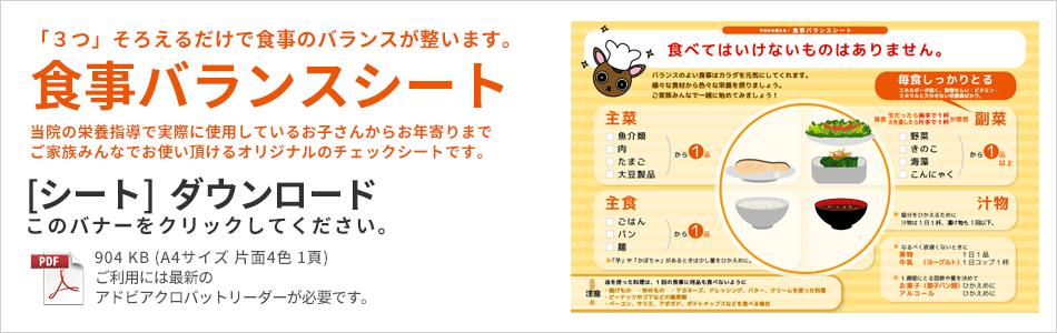 食事バランスシート@【適材適食】小園亜由美(管理栄養士・野菜ソムリエ上級プロ)