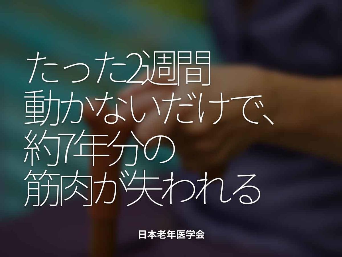 「たった2週間動かないだけで、約7年分の筋肉が失われる」日本老年医学会【適材適食】小園亜由美(管理栄養士・野菜ソムリエ上級プロ)
