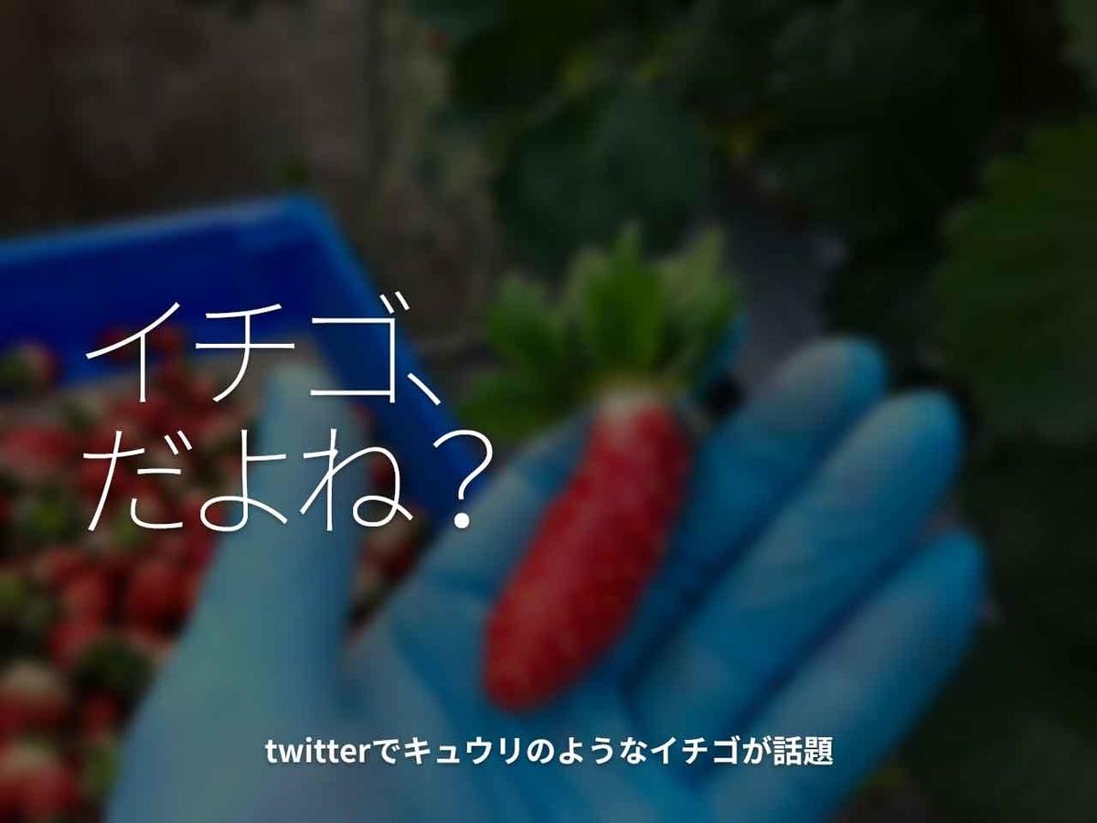 「イチゴ、だよね?」twitterでキュウリのようなイチゴが話題【適材適食】小園亜由美(管理栄養士・野菜ソムリエ上級プロ)