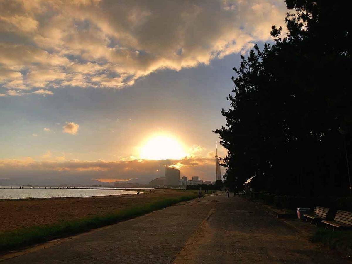 「夕日が綺麗だったから朝日も見に行こう!」海岸通りウォーキングコースを歩いてみた@福岡【適材適食】小園亜由美(管理栄養士・野菜ソムリエ上級プロ)糖尿病専門・甲状腺専門クリニック勤務@福岡姪浜・福岡天神