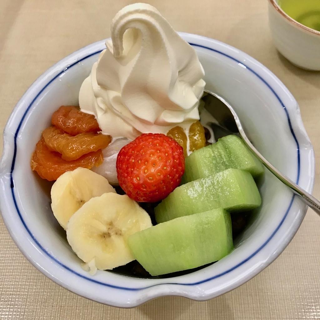 フルーツクリームみつまめ