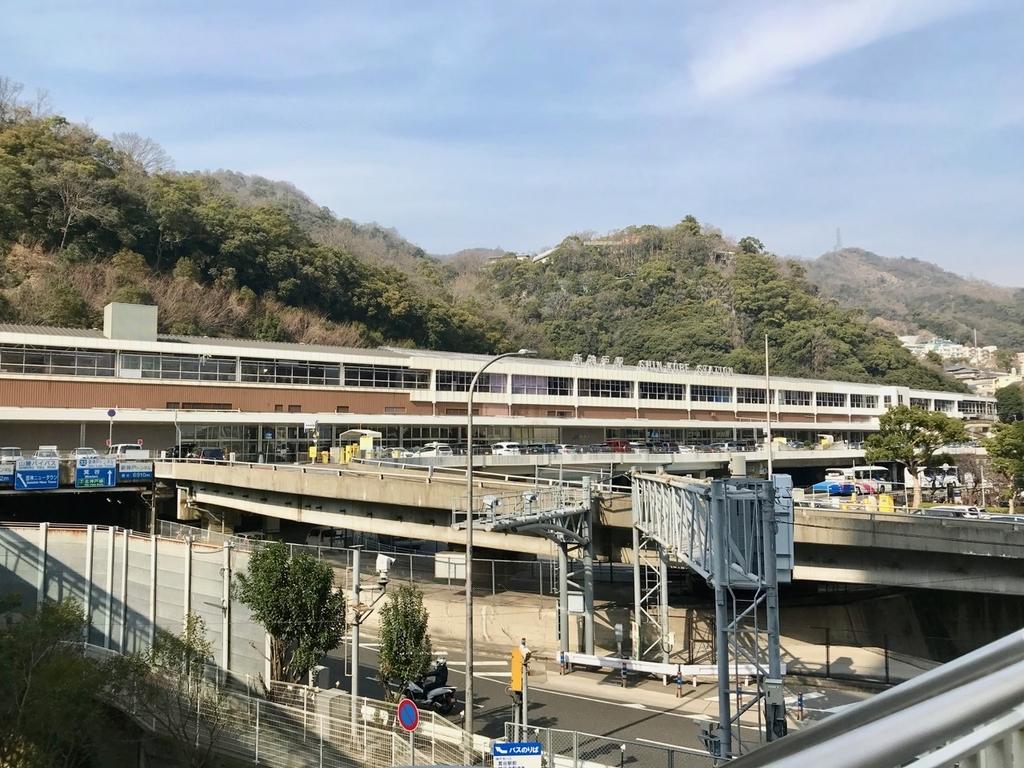 オリエンタルアベニューから見た新神戸駅