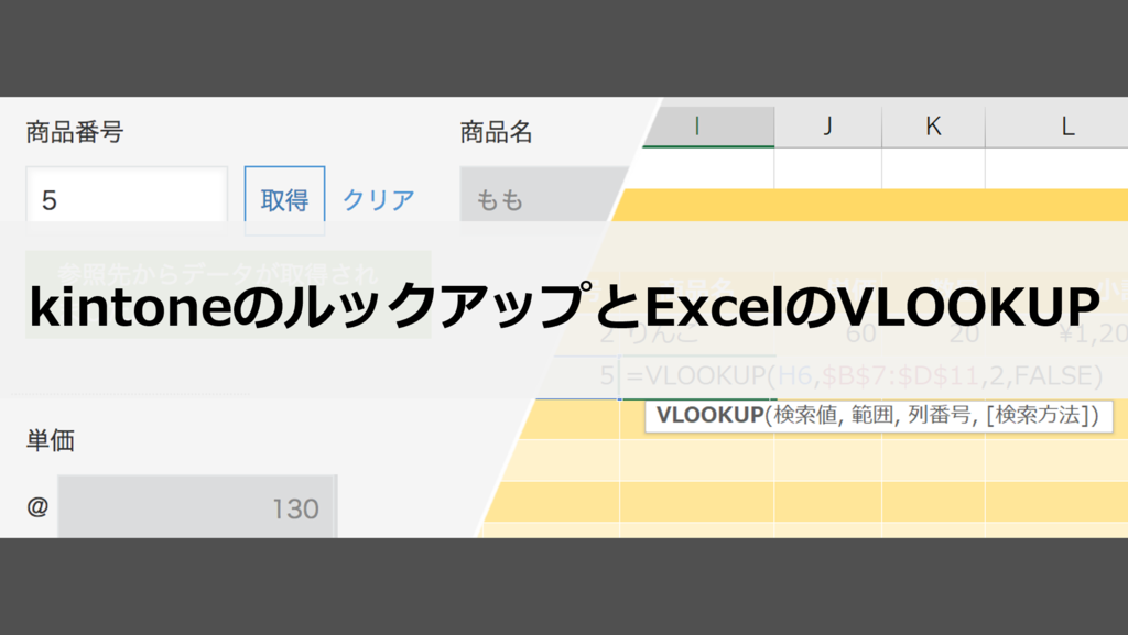 kintoneのルックアップとExcelのVlOOKUP関数