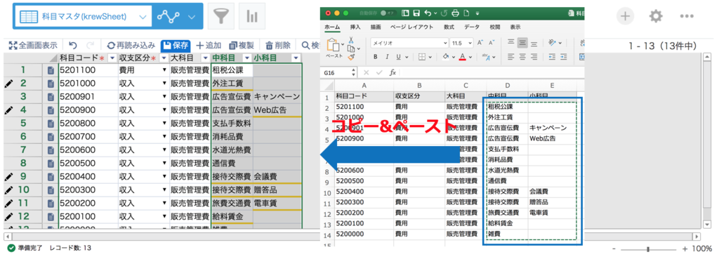 Excel コピペ