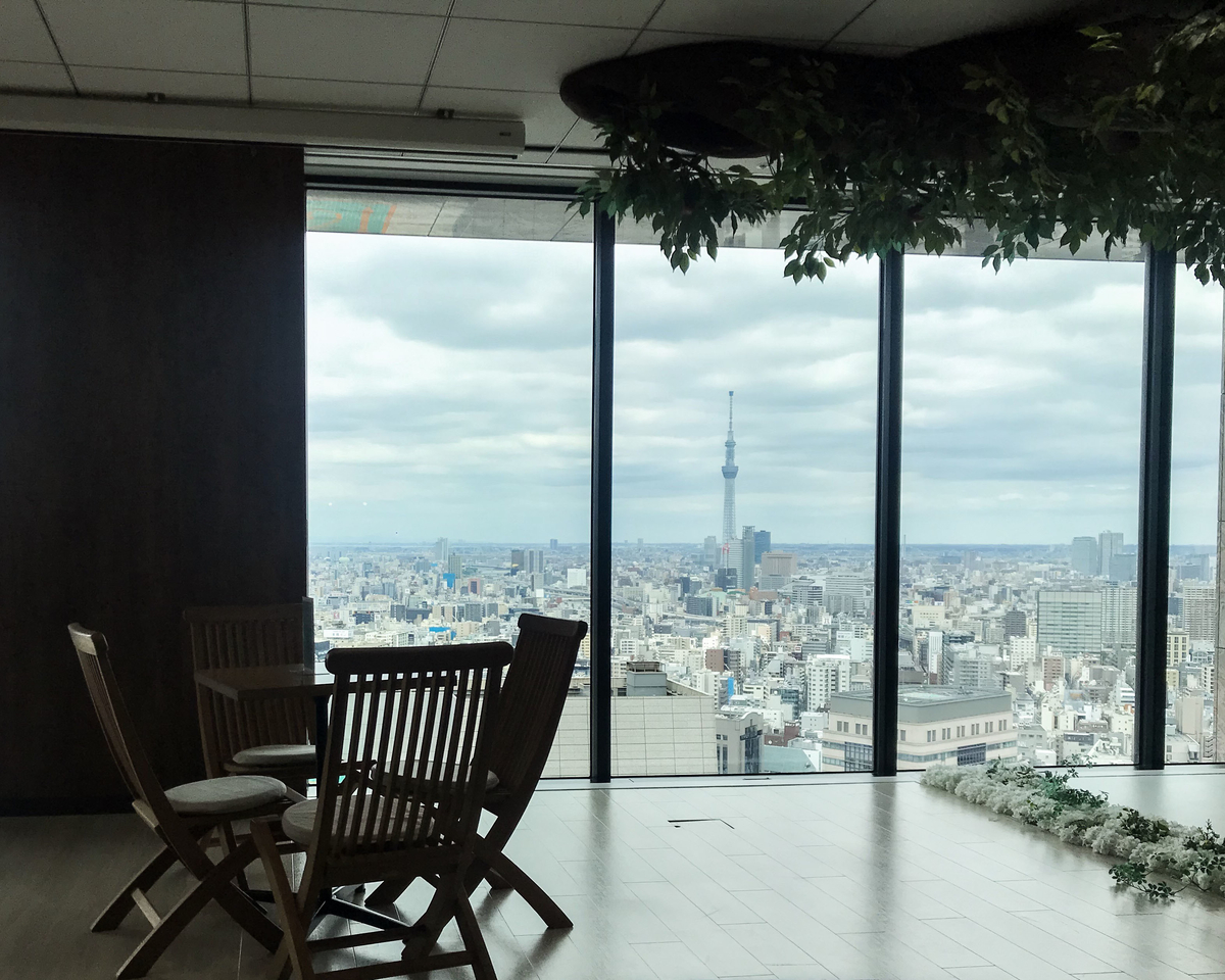 サイボウズ社27階の眺め