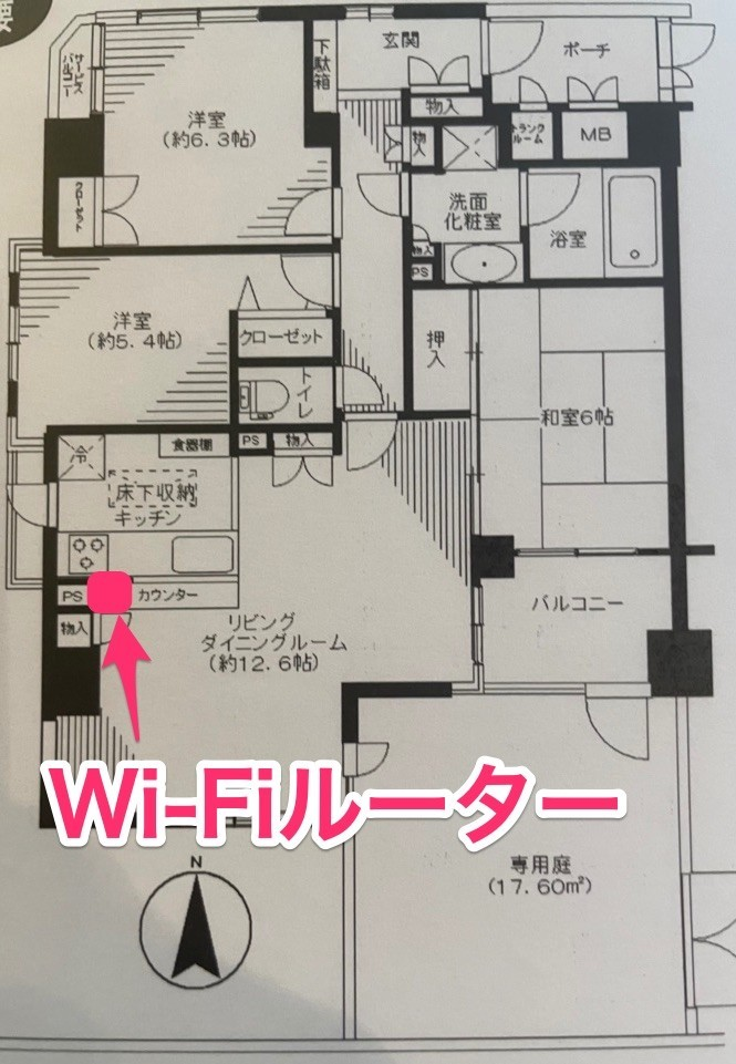 wifiルーターの置き場所