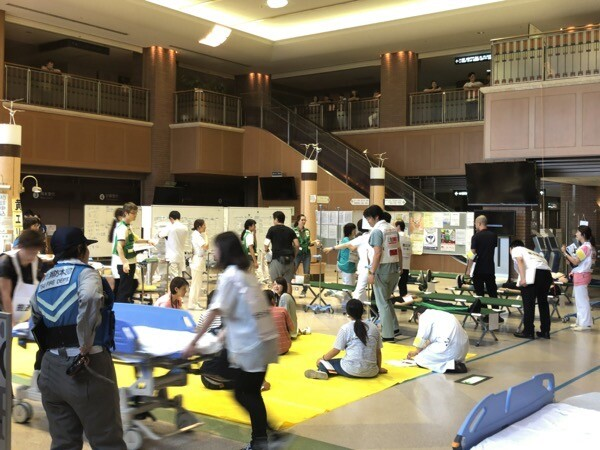 中央医療災害訓練トリアージ現場