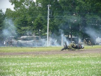 P1010385模擬戦闘展示