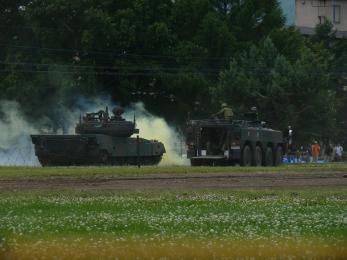 P1010404模擬戦闘展示