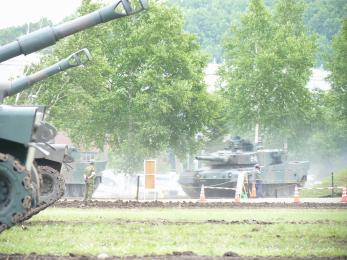 P1010399模擬戦闘展示