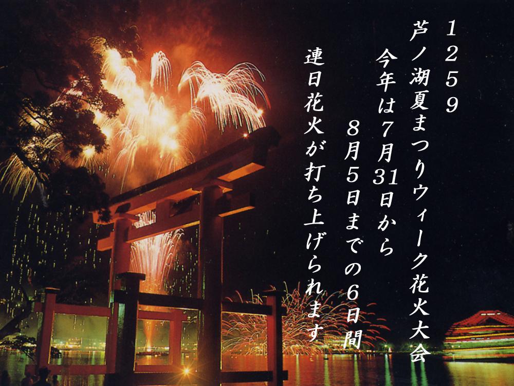 箱根08月05日鳥居焼祭 花火大会