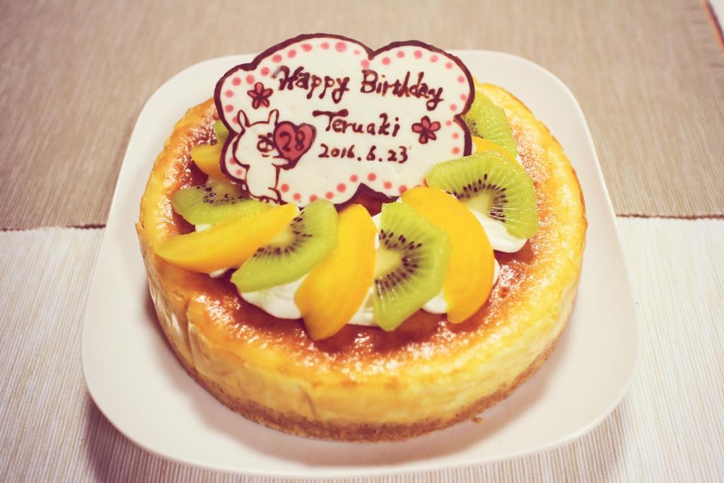 旦那 誕生日 バースデー お祝い ケーキ 飾り付け チョコプレート 手作り チーズケーキ