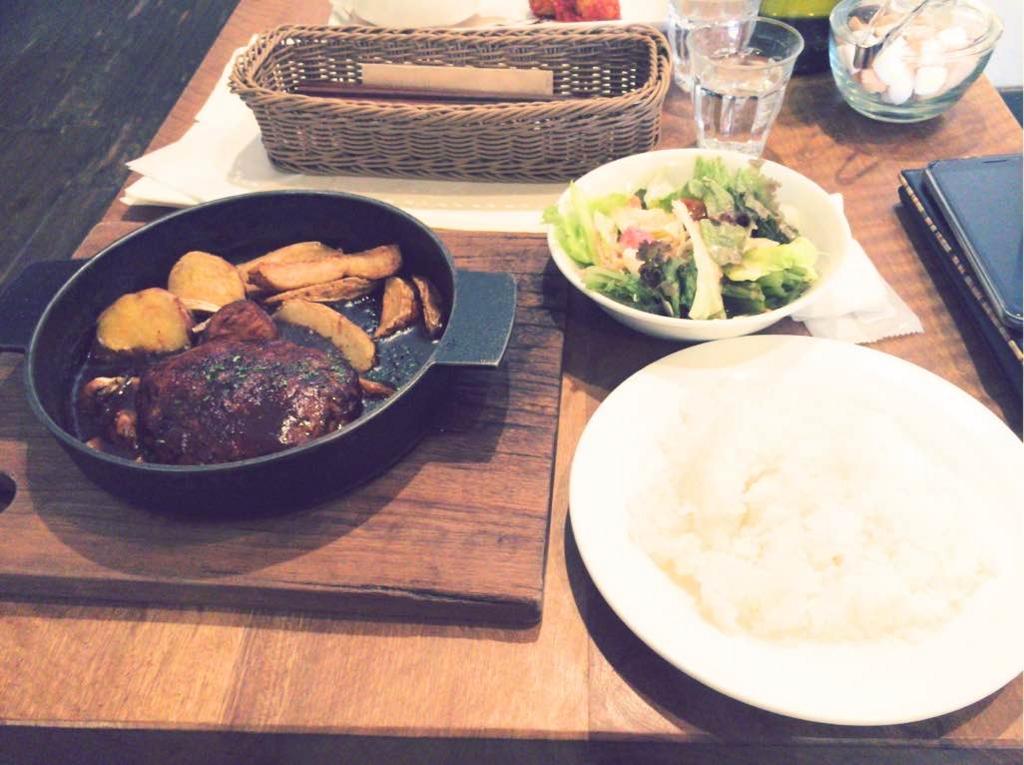 cafe source カフェ ソース 鳥取 ハンバーグランチ