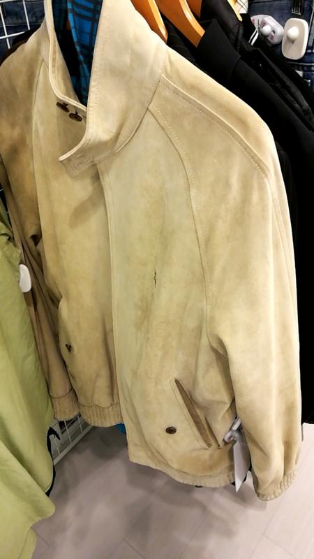 バーバリーのレザージャケット