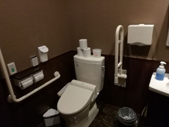 快活クラブ水戸渡里店 1Fの多目的トイレ2