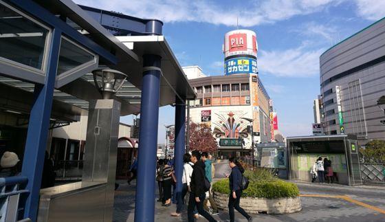 快活クラブ川口東口駅前店のルート