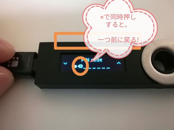 Ledger Nano S PINcode入力3