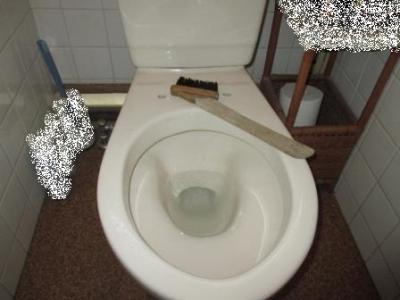 トイレ便座交換?施工途中?解体?汚れの水洗い例.JPG