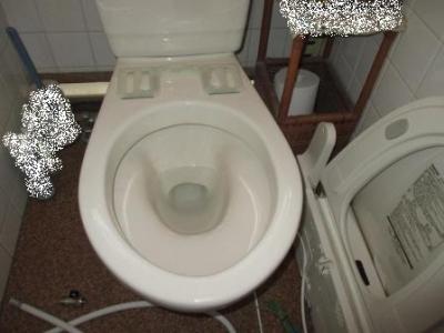 トイレ便座交換?施工途中?取付?洗浄便座の接続?給水接続?仮合せの外し例1.JPG